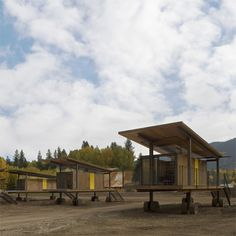 Rolling Huts are minimally appointed mountain cabins mounted on wheels, designed by Seattle architects Olson Sundberg Kundig Allen.