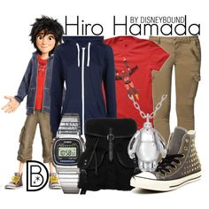 Hiro Hamada by leslieakay on Polyvore featuring Mos Mosh, Converse, even&odd and Topshop
