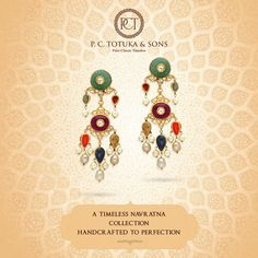 Crafted for the discerning, this luxuriously opulent piece is a beautiful blend of the tradition and modernity. #BridalCollection #Brides #Jewelry #Navratna #Jaipur #WeddingCollection #Contemporary #Authentic #Gold 