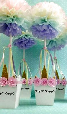 Unicorn Party - Ideas This idea is great for our next unicorn party! - Unicorn Party – Ideas This idea is great for our next unicorn party! All Unicorn party guests wil - Party Unicorn, Unicorn Themed Birthday Party, 1st Birthday Parties, Girl Birthday, Birthday Ideas, Birthday Themes For Girls, Unicorn Ears, 1st Birthdays, Unicorn Centerpiece