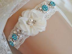 Something Blue Wedding Garter Lace Bridal Garter by bridalambrosia Bridal Lingerie, Bridal Lace, Lace Wedding, Romantic Wedding Colors, White Wedding Garter, Bride Garter, Something Blue Wedding, Bridal Accessories, Weddings