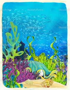 painted coral reef backdrop - Google Search