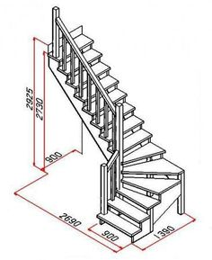 Small Space Staircase, Staircase Design Modern, Loft Staircase, Home Stairs Design, Modern Stairs, Interior Stairs, Home Design Plans, Escalier Art, Stair Plan