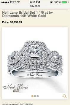 Neil Lane Engagement Ring and Band..