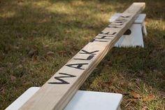 spelidee voor piratenfeestje: plank lopen