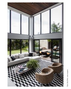 SQ+ Arquitetos Associados Home Design Floor Plans, Interior Design Diy, Interor Design, Home Decor Trends, Contemporary Living Room, Interior Design, House Furniture Design, House Interior, Interior Architecture