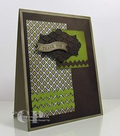 Catherine Pooler!  Stampin' Up Masculine Card Apothecary Accents Framelits