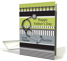 Father's Day, for Doctor, sthethoscope card