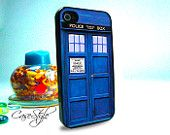 Dr Who Tardis iPhone 4 case, iPhone 4s case, case for iPhone 4. Black or white.