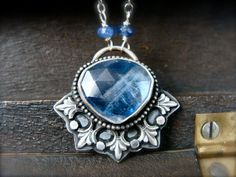 frost spirit  kyanite pendant by sirenjewels on Etsy
