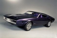 Classic Cars - 1970 Ford Mustang Milano Concept Car - Purple  09-01-2013