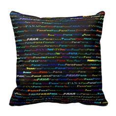 Pana Text Design I Throw Pillow