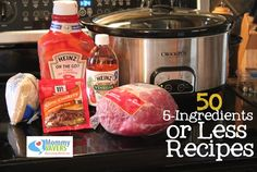 50 five ingredients or less crock pot recipes!