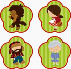 Kit Chapeuzinho Vermelho - Grátis                                                                                                                                                                                 Mais Red Party, Baby Party, Red Riding Hood Party, Cute Wallpapers For Ipad, Red Ridding Hood, Childrens Party, Conte, Little Red, Party Printables