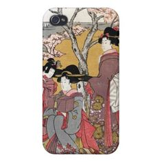 Cool oriental japanese classic geisha lady art iPhone 4/4S cases $35.95