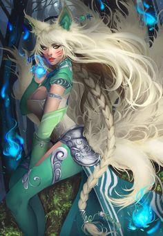 League of Legends ~ Ahri ~ Skin Concept