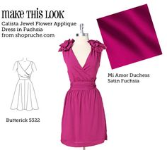 This site matches up sewing patterns to clothing from big sites like modcloth.com and Anthropologie.  This dress in dark red would be great for Christmas parties