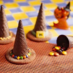 An easy to make witch hat surprise! #Halloween #Food