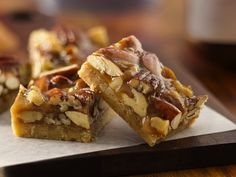 Honey Nut-Marshmallow Bars | Recipe