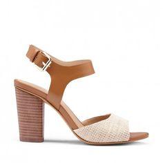 Caddie Block Heels in Natural {via Sole Society}