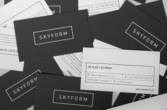 corporate identity SKYFORM | business cards