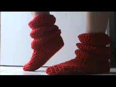 Botas a crochet tipo acordeón - Tutorial
