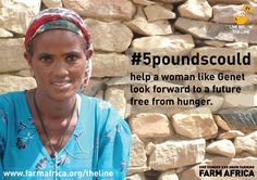 #5poundscould help a mother like Genet look forward to a future free from hunger.