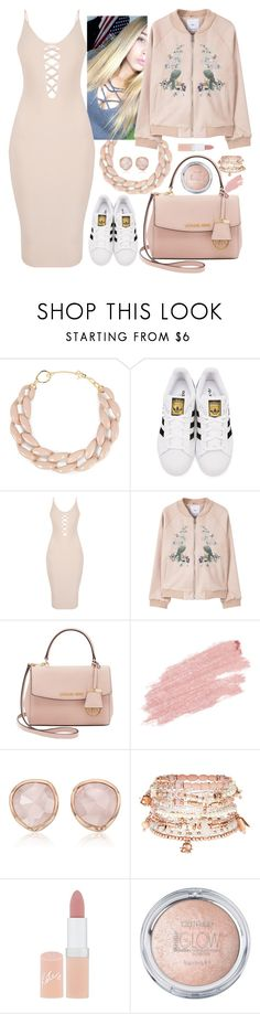 """""""My beautiful sister☺️"""" by oh328 ❤ liked on Polyvore featuring DIANA BROUSSARD, adidas Originals, MANGO, Michael Kors, Jane Iredale, Monica Vinader, Accessorize and Rimmel"""