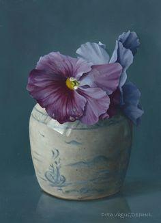 Pita Vreugdenhil | OIL | Violets in Ginger Jar