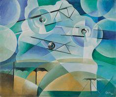 """simultaneousvisions: """" Tullio Crali, Aeropittura 2 Oil on cardboard 1929 """" Italian Painters, Italian Artist, Futurist Painting, Italian Futurism, Futurism Art, Zeppelin, Composition Art, Art Vintage, Art Diy"""