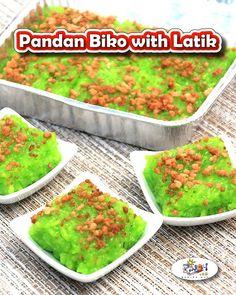 Pandan Biko Recipe is perfect for fiestas or whenever you are just craving for some authentic Filipino meryenda. Learn how to cook Pandan Biko here. Filipino Dishes, Filipino Desserts, Asian Desserts, Filipino Recipes, Asian Recipes, Ethnic Recipes, Korean Dishes, Biko Recipe, Bibingka Recipe