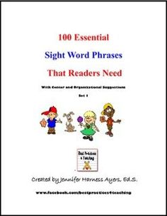 "FREE LANGUAGE ARTS LESSON - ""Sight Word Fluency"" - Go to The Best of Teacher Entrepreneurs for this and hundreds of free lessons.  Kindergarten - 5th Grade     #FreeLesson     #LanguageArts     http://www.thebestofteacherentrepreneurs.com/2016/04/free-language-arts-lesson-sight-word.html"