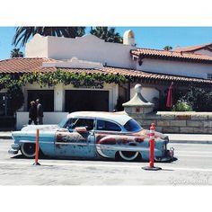 Rat Rod Low Rider in Downtown Santa Barbara