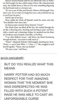 So this is one of the reason I hate the cursed child so much and would never admit it's more than a badly written fan fiction.
