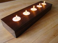 Walnut Tea Light Holder