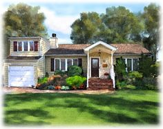 Watercolor Painting House Looking for Professional House Painting in Stamford CT?