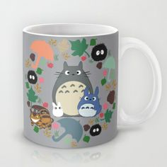 Totoro Wreath  Mug