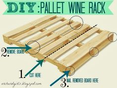 DIY: Pallet Wine Rack by Orchard Girls. I like this tutorial the BEST!!