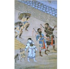 Ainu say some of their gods had blue skin.