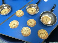 Connectives on Pancakes Pancake Day Eyfs Activities, Shrove Tuesday Activities, Vocabulary Activities, Language Activities, Maths Eyfs, Mister Wolf, British Values, Funky Fingers, Tuff Tray