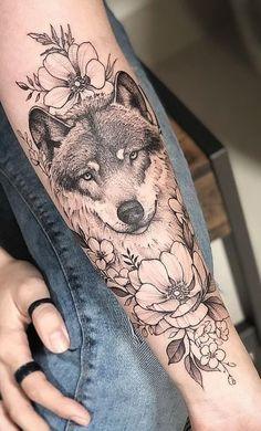 Motif tatouage tatouage loup et symbolisations pour femme et homme tood tattoo sticker shoulder position dandelion flower tattoo pattern tattoo sticker 2 pieces ohmytat temporary tattoos Wolf Tattoos For Women, Tattoos For Women Half Sleeve, Forearm Tattoos, Body Art Tattoos, Cute Tattoos, Small Tattoos, Tatoos, Wolf Tattoo Design, Tattoo Wolf