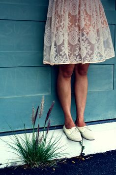 lace and oxfords