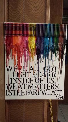 Harry Potter Quote Melted Crayon Art 14x18 by LetHopeRise on Etsy, $30.00