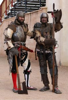 Landsknecht / Arizona Renaissance Festival 2015 / German / Mercenaries / Medieval soldiers / Jason Russell and David Bobrink Medieval Knight, Medieval Armor, Medieval Fantasy, Armor Clothing, Armadura Medieval, Landsknecht, Knight Armor, Arm Armor, Fantasy Armor