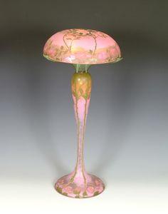 Daum Frères, Nancy, Acid Etched Glass Lamp.