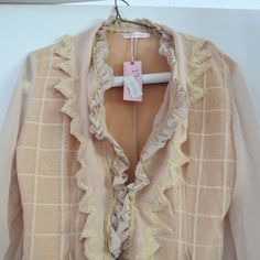 Pretty Angel Size XL Lagenlook BOHO Ruffles Top Blouse New With Tag #PrettyAngel #Blouse #Any