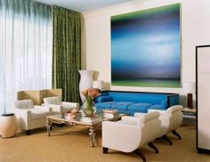 Modern Living Room by De la Torre Design Studio via @Architectural Digest #designfile