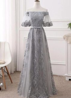 Prom Dress, Long Prom Dresses, Bridesmaid Dress, Bridesmaid Dresses Lace Bridesmaid Dresses 2018 Source by alinanovatop Grey Prom Dress, Lace Dress, Tulle Lace, Gray Gown, Elegant Bridesmaid Dresses, Formal Dresses, Classy Prom Dresses, Burgundy Bridesmaid, Bridesmaid Gowns