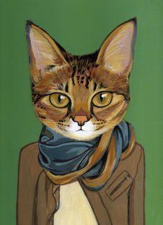 Resultado de imagen para oleos de pinterest gatos