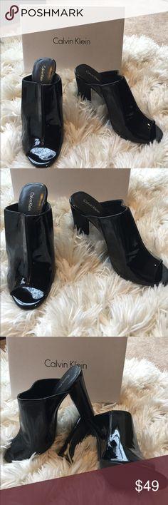 🌺🌸 CALVIN KLEIN 🌸🌺 Stunning Zandra Patent SZ10 🌺🌸 CALVIN KLEIN 🌸🌺 Stunning Zandra Patent SZ10 these shoes have never been worn.  Heel is 4.5 inches high.  Truly stunning on!  Don't miss these 🔥 Calvin Klein Shoes